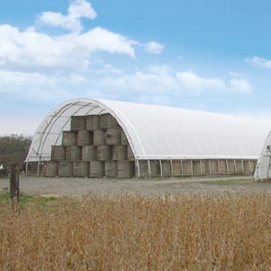 Econoline Freestanding Storage Building   30u0027W X 15u0027H X 50u0027L   White