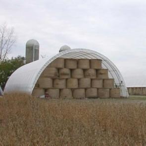 Econoline Freestanding Storage Building - 30'W x 15'H x 80'L - White
